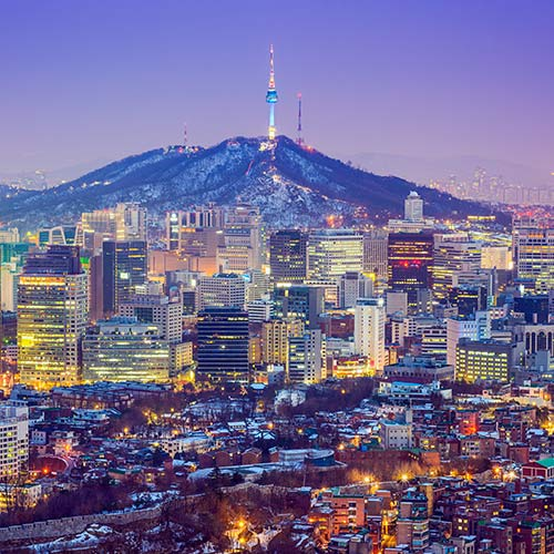 Seoul at twilight