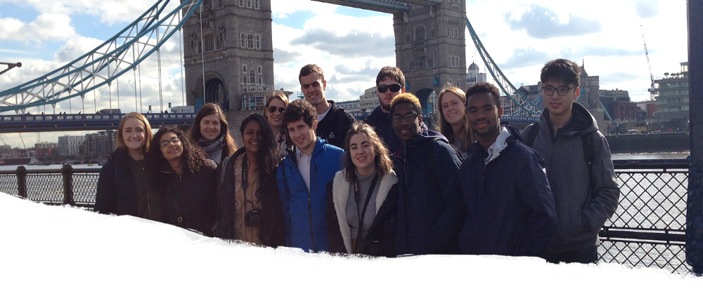 Students at the Tower Bridge
