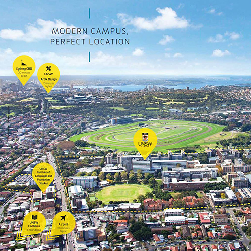 New South Wales Campus Map