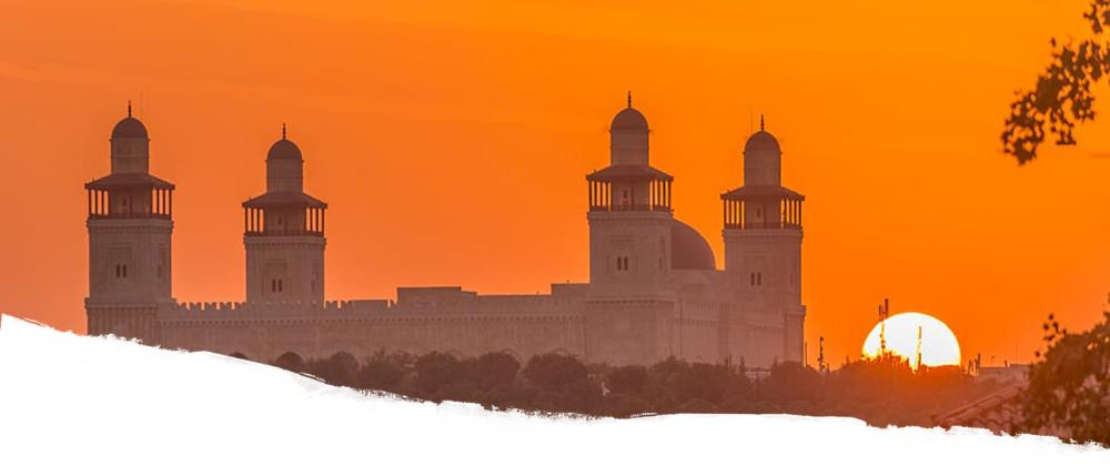 King Hussein Mosque and Sunset